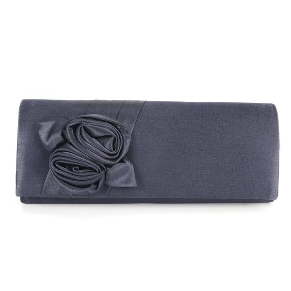 Satin Rose Clutch Bag - Anladia - 1