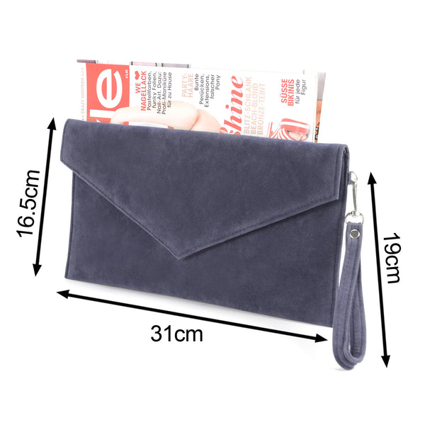 Folded Envelope Clutch Bag - Anladia - 4