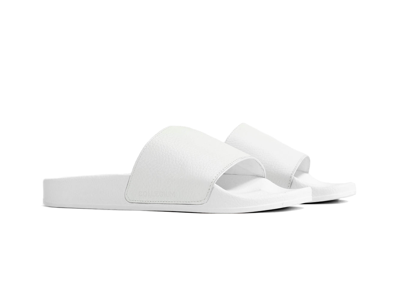 "Women's Classic Pillar Slide ""Bianco"""
