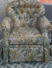 Image of floral print chair