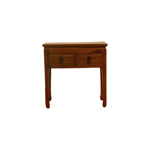 2 Drawer Oak Stain Console Table