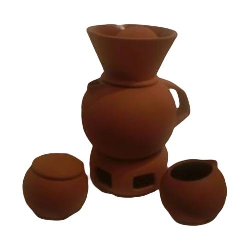 Bortner Terracotta Coffee/Tea Set with Warmer