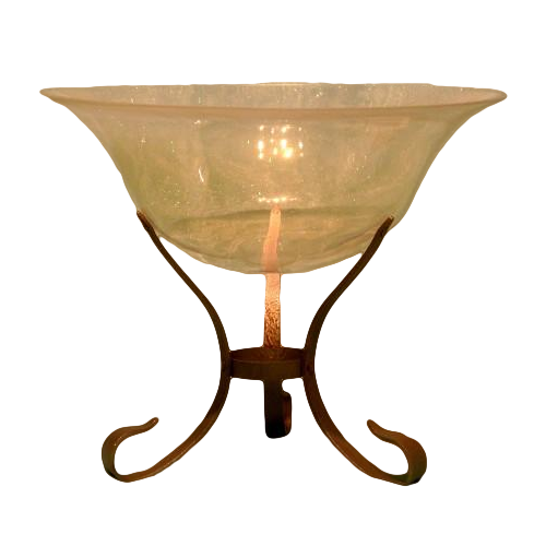 Opal Glass Bowl w/Stand
