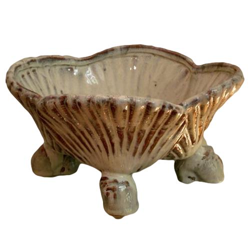 Scalloped Footed Bowl