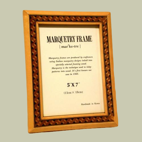 Wood Marquetry Frame - Natural