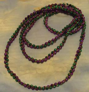 Beaded purple and green garland
