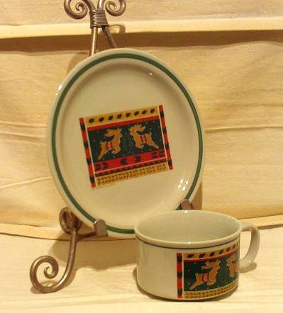 Reindeer Soup Bowl and Plate