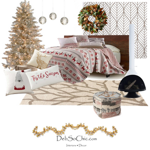 Concept board depicting a sample seasonal room refresh