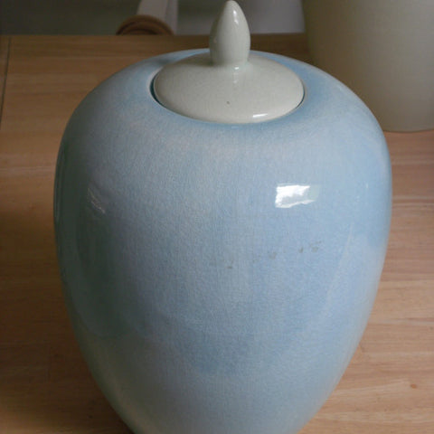 Ice Blue Ginger Jar