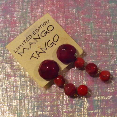 Mango Tango Red Earrings