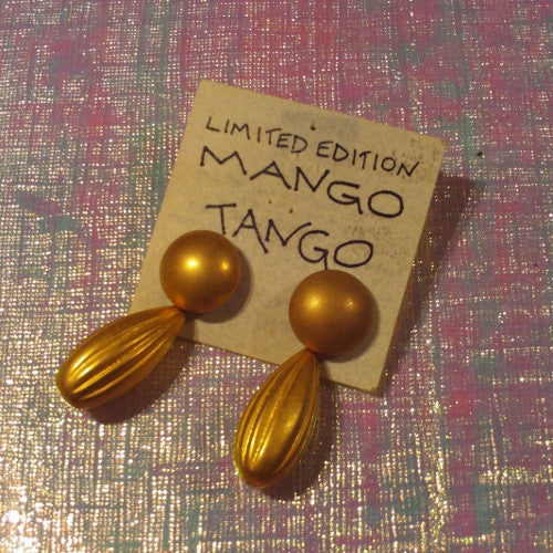 Mango Tango Gold Earrings