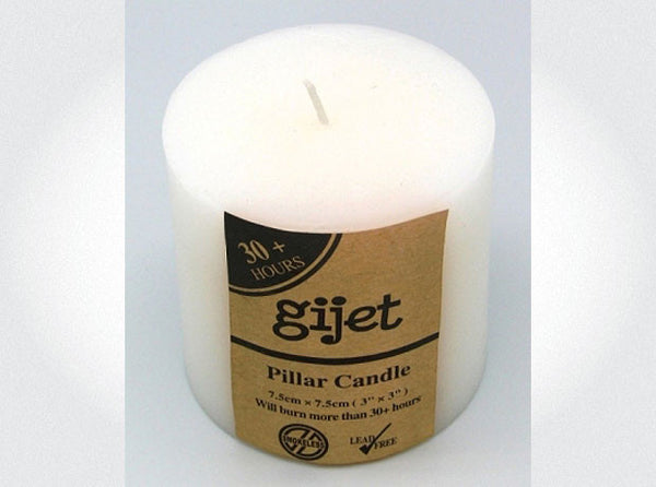 PILLAR CANDLE  Burn Time 30hrs (75 x 75mm)