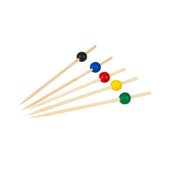 Party Pick Bamboo Assorted Colours 125mm