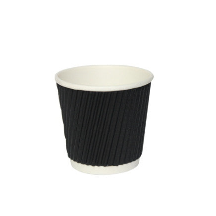 4 oz Black Double Wall Coffee Cup