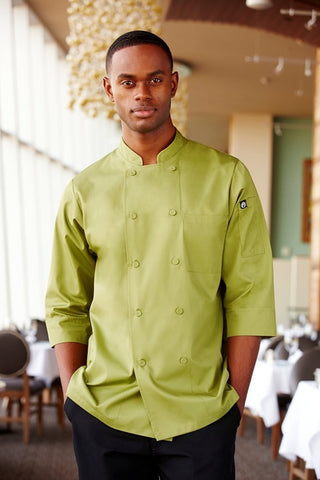 3/4 Basic Lite Chef Jacket Lime