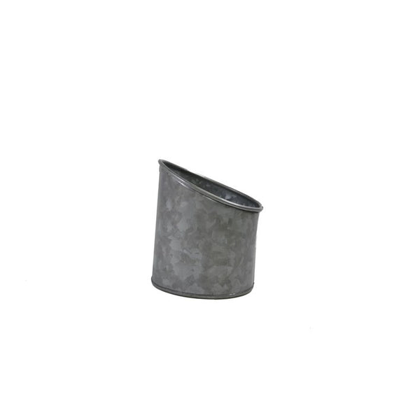 Coney Island Galvanised Pot Slant 105 mm X 115 mm