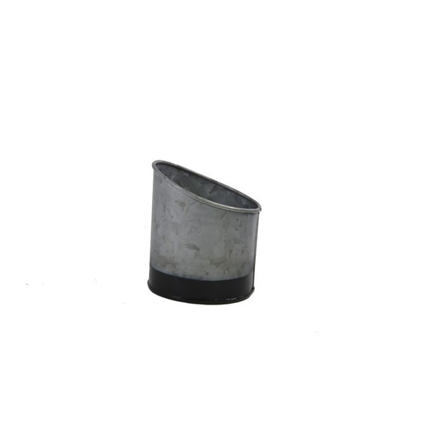 Coney Island Galvanised Pot Slant Dipped Black 105 mm X 115 mm