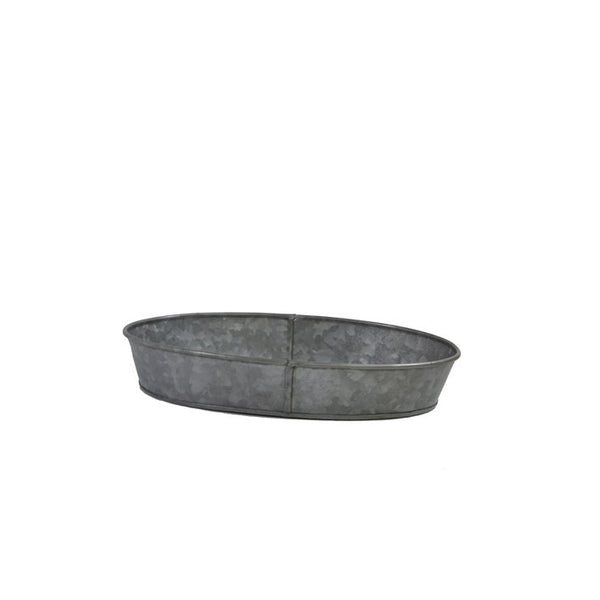 Coney Island Galvanised Oval Tray 240 mm X 160 mm X 45 mm