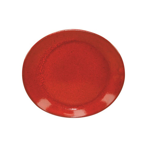 Artistica Oval Plate 295mm X 250mm Reactive Red