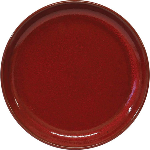 Artistica Round Plate 190mm Rolled Edge Reactive Red