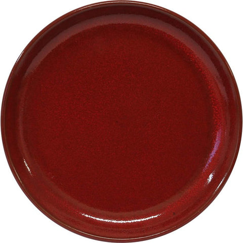Artistica Round Plate 240mm Rolled Edge Reactive Red