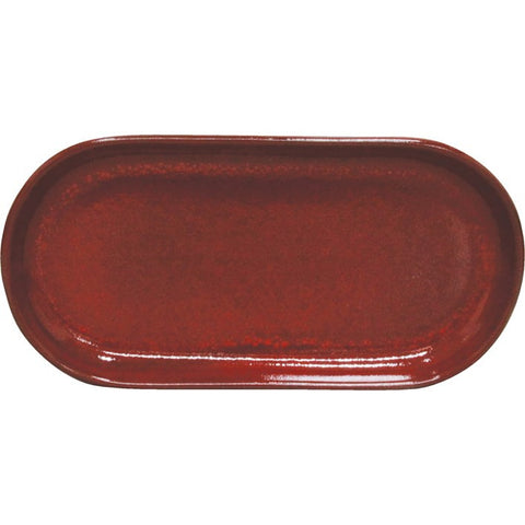 Artistica Oval Plate Coupe 300mm X 140mm Reactive Red