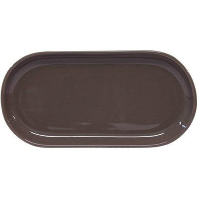 Artistica Oval Plate Coupe 300mm X 140mm Mocha