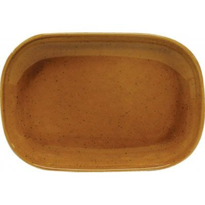 Artistica Rectangular Plate Coupe 240 X 160 mm Hazelnut