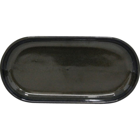 Artistica Oval Plate Coupe 300mm X 140mm Midnight Blue