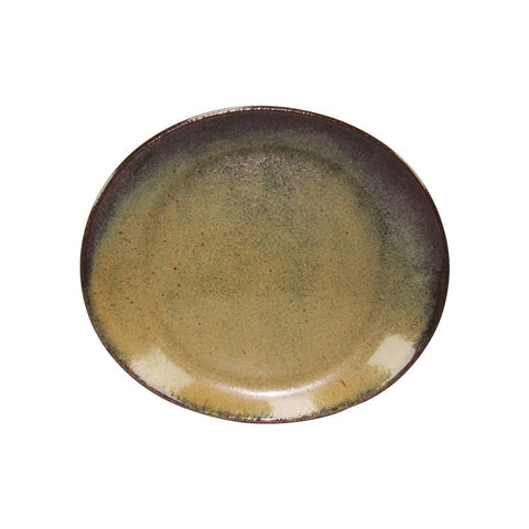 Artistica Oval Plate 250mm X 220mm Reactive Brown