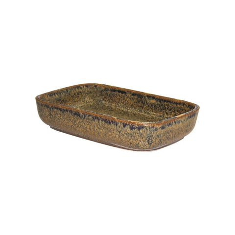 Artistica Rectangular Dish 170 X 105 X 40mm Reactive Brown