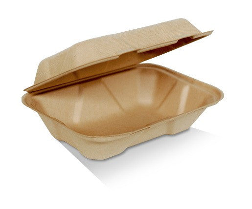 9 inch X 6 inch X 3 inch Clamshell Bamboo