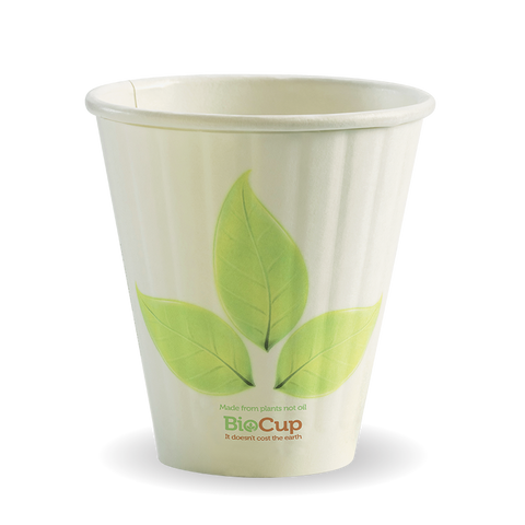 BioCup Double Wall 8oz 90mm Leaf Series