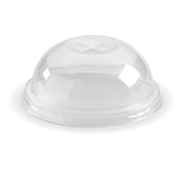 Ingeo Pla 150-280 mL Cup Dome Lid With X-Slot (Clear)