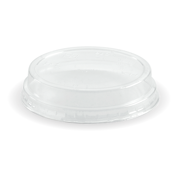 Ingeo Pla 150-280 mL Cup Flat Lid With No Hole (Clear)