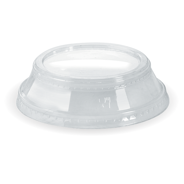 300-700 mL Cup Dome Lid With No Hole (Clear)