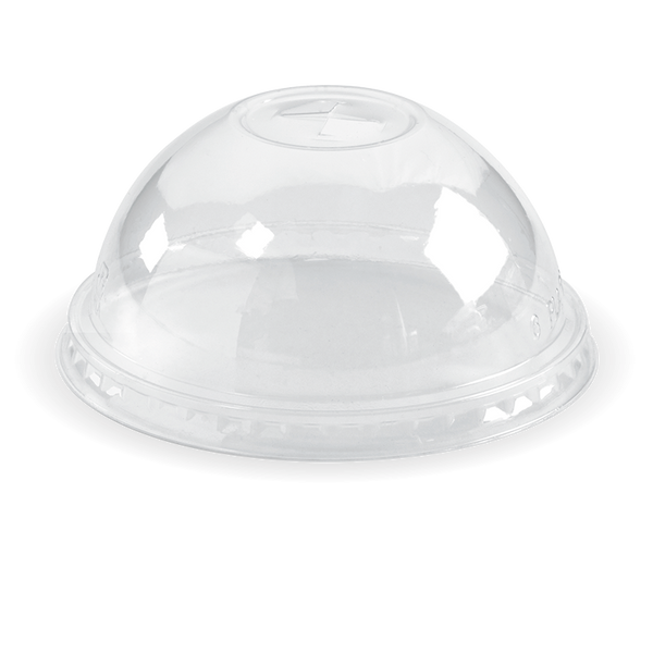Ingeo Pla 300-700 mL Cup Dome Lid With X-Slot (Clear)