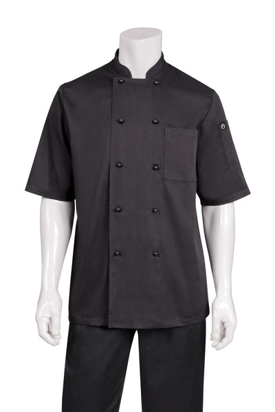Canberra S/S Basic Chef Jacket Black
