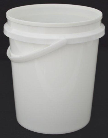 5kg White Food Bucket With Handle