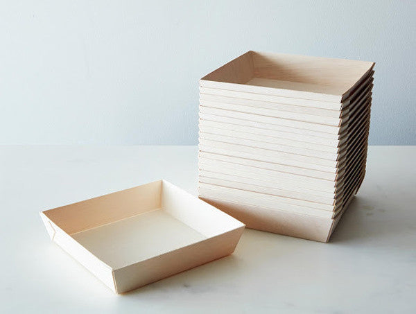 Fixed Side - Medium Square Tray