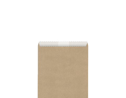 #1/2 Square GREASE-PROOF LINED Brown Plain Bag (156 x 140mm) 500 per pack