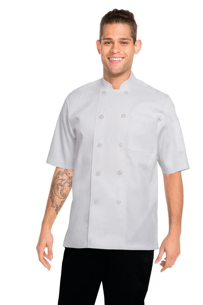 Volnay Short Sleeve Chef Jacket White