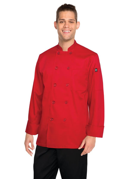 Nantes Red Basic Chef Jacket