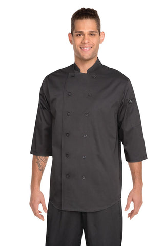 3/4 Sleeve Chef Shirt Black