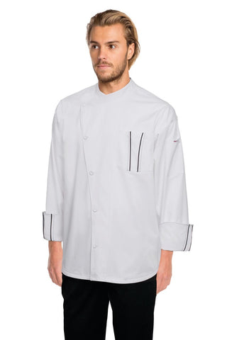 Amalfi Signature Series Chef Jacket with Grey Trim