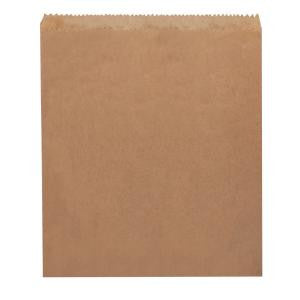 Flat #4 Square Brown Plain Bag (275 mm X 235 mm) 500 Per Pack