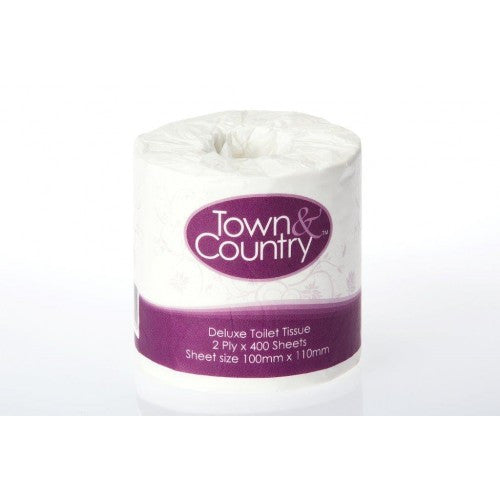 Town & Country 2 Ply Toilet Paper 400 Sheets