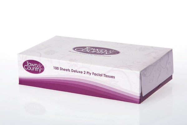 Town & Country 2ply Facial Tissues 100s