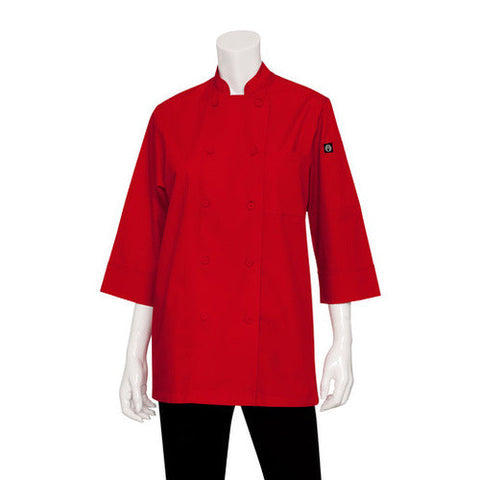 3/4 Basic Lite Chef Jacket Red