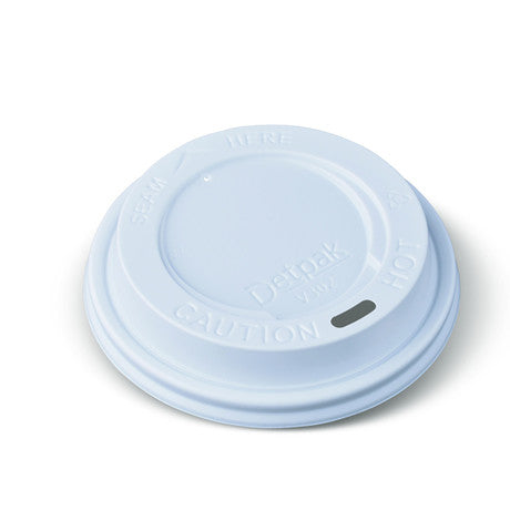 Smooth Lid to Suit 8oz Origins Coffee Cups (White)